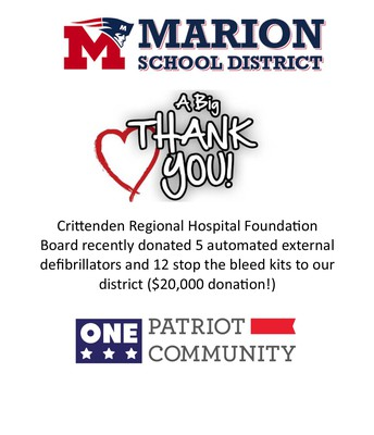 Thank you Crittenden Regional Hospital Foundation
