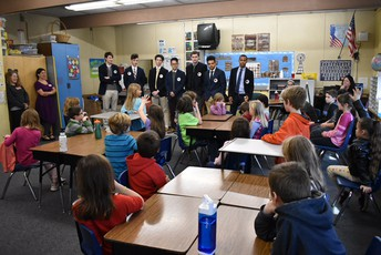SKS visits third graders