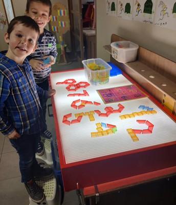 Spelen met cijfers op de lichtbak!