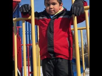 Climbing at the playground!