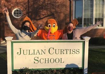 Turkey mascot at JC School