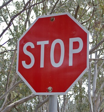 Stop at STOP signs