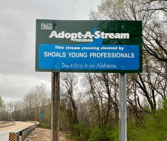 Thank you, Shoals Young Professionals, for adopting Cypress Creek!