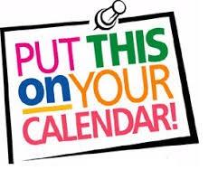 Mark your calendars...