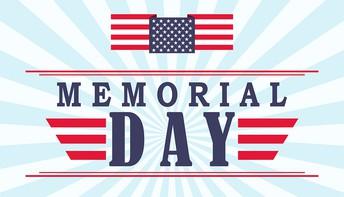No School, May 25th - Memorial Day!