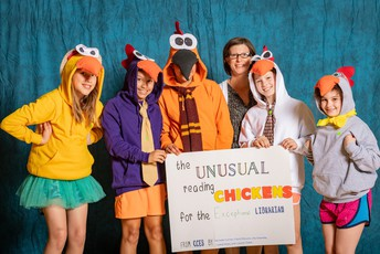 The Unusual Reading Chickens for the Exceptional Librarian