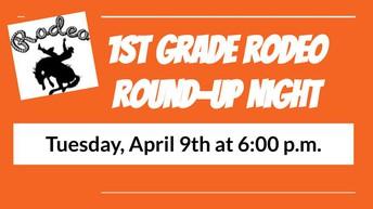 1st Grade Family Night - April 9th