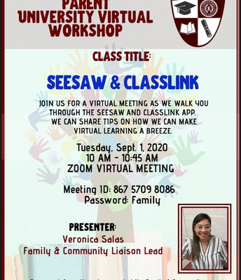 Parent University SeeSaw & Classlink 101