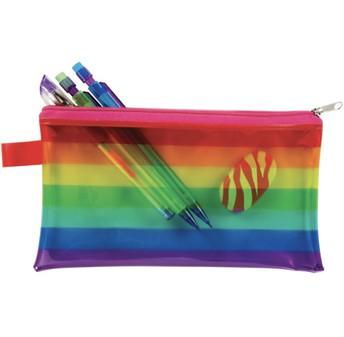 Rainbow Stripes Pencil Pouch