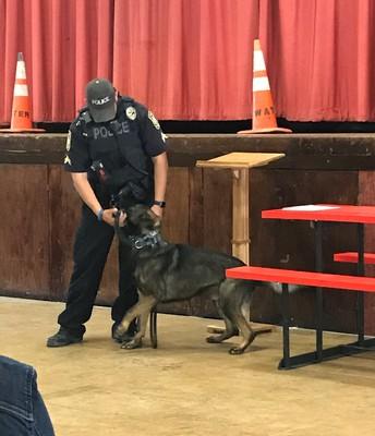 Career day with Uvalde Police Dept. 3/26/2021