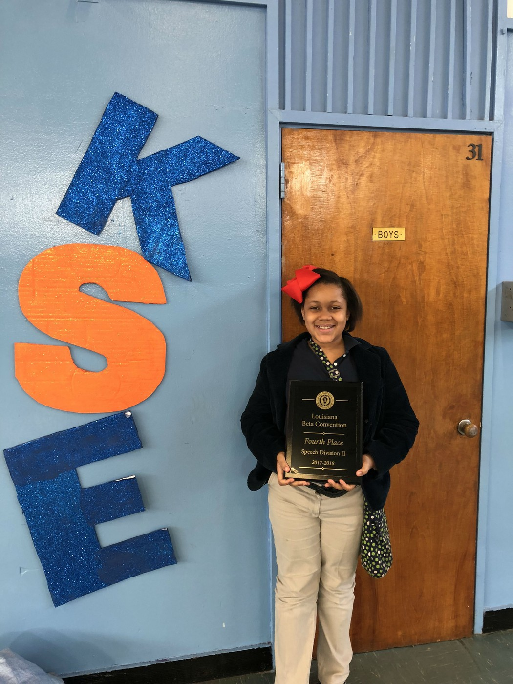 Congratulations to Taylor Robinson who placed 4th in Speech Division II at Jr. Beta State Competition that was held on 2/21 – 2/23.
