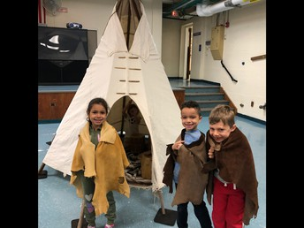 Look at the Teepee we built!