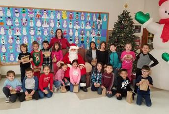 A Few Class Snap Shots of Santa's Visit Before Winter Break