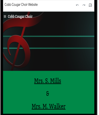 Cobb Cougar Choir Website