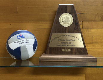game ball & trophy for region 4-6A championship game