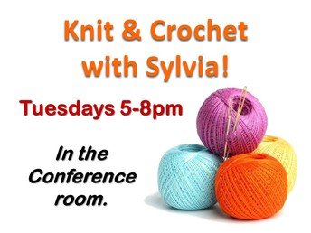It's time to get Knitting and Crocheting with Sylvia!