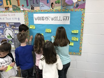 Recording what we learned on our Wonder Wall!