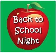 BACK TO SCHOOL NIGHT IS THIS WEDNESDAY!!!