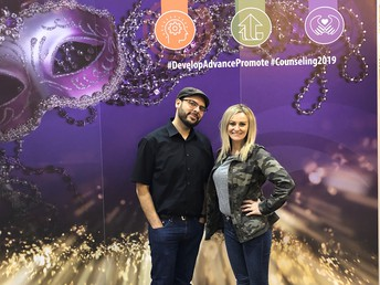 Jessica and Alex at ACA conference