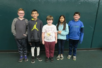 Congratulations to our 5th Grade Spelling Bee winners: