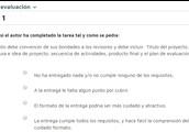 Formulario / Rúbrica