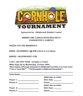 Sign up DUE 10/24