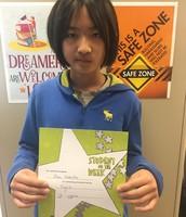 Student-of-the-Week:       Ren Nakata