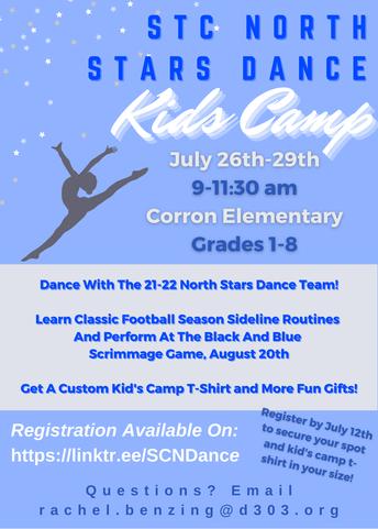 Campamento juvenil del equipo de baile de St. Charles North