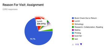 Individual Student Usage Chart