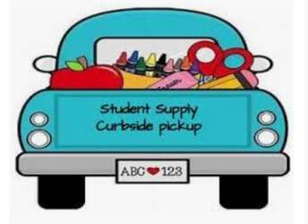 Contactless Pick Up and Drop Off of Supplies and Materials for Students