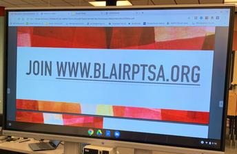 PTSA Meeting: Blair's Reopening Plan