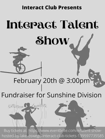 Interact Talent Show flyer