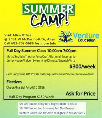 Venture Summer Camp 2018