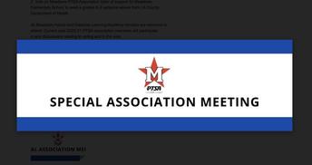 PTSA Special Association Meeting on 10/19 @7:00pm
