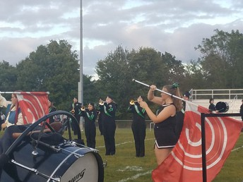 "Trumpets & Color Guard during ""Red October"""