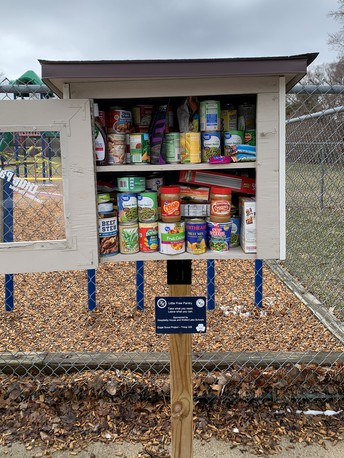 Outside Food Pantry Available