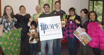 Photo of Hope Sparrow volunteers