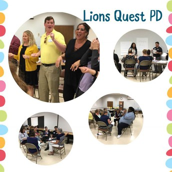 Lions Quest Training for our middle school & K-8 Staff