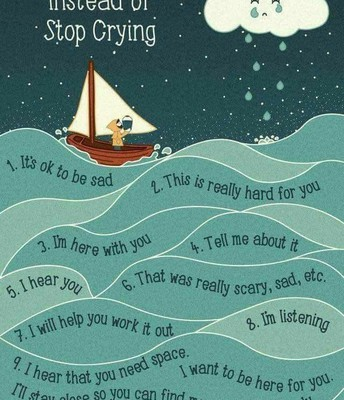 10 THINGS TO SAY INSTEAD OF STOP CRYIING