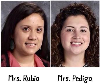 Mrs. Rubio - Mrs. Pedigo