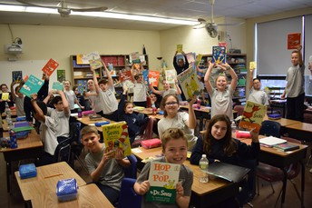The whole school participated in Reading Across America with their favorite Dr. Seuss books!
