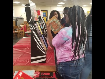 Students at the Scholastic Book Fair