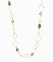 Arabesque link necklace-gold