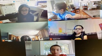 Ms. Uskert's Virtual Learners Are Ready For Their Spelling Test!