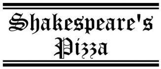 Shakespeare's Pizza Orders Due