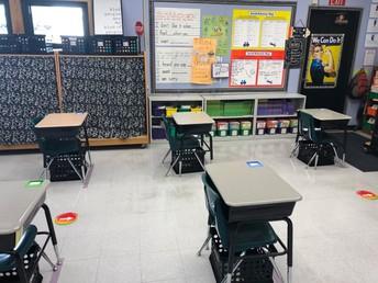 Desks are 6 feet apart!