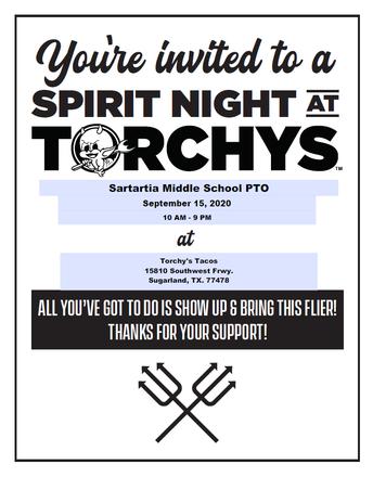 Torchy's Spirit Day 9.15.20
