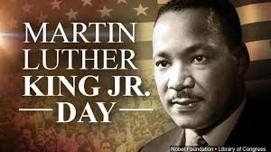 Martin Luther King Jr. Day: Monday January 20, 2020