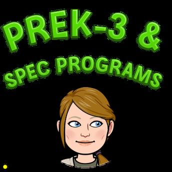 All Plan B PreK-3 & Special Programs