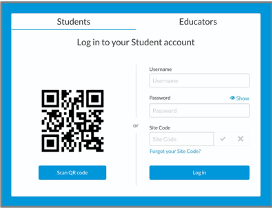 2. Go to the login page and enter student's credentials.
